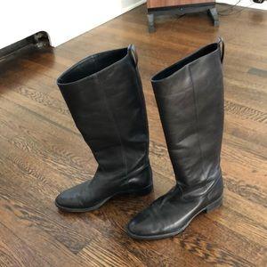 J.Crew Black Leather boots